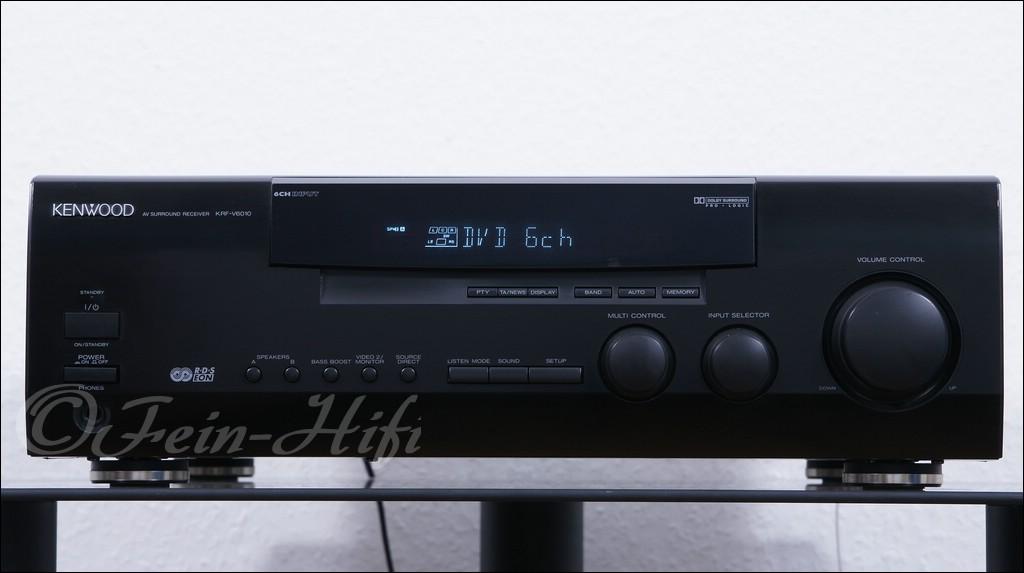 kenwood krf v6010 stereo surround 5 1 av receiver. Black Bedroom Furniture Sets. Home Design Ideas