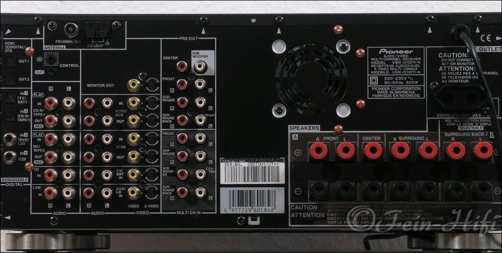 Pioneer Vsx D1011 Dolby Digital Thx Heimkino Av Receiver