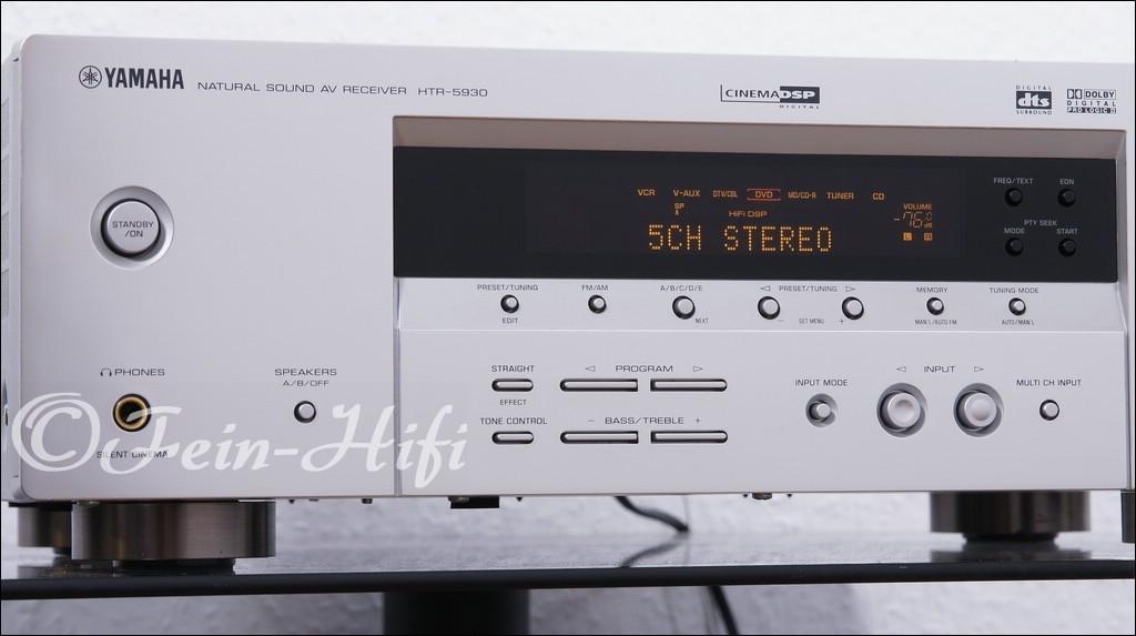 yamaha htr 5930 dolby digital 5 1 av receiver silber. Black Bedroom Furniture Sets. Home Design Ideas