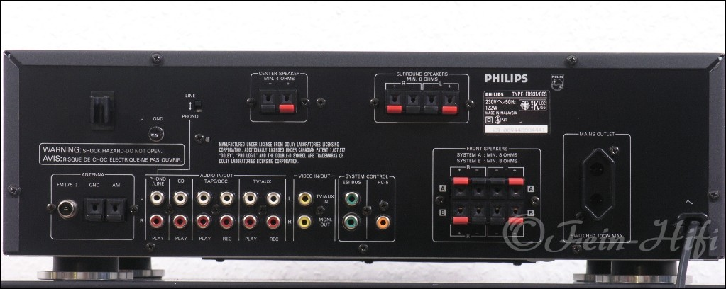 philips fr931 stereo surround av receiver second hand. Black Bedroom Furniture Sets. Home Design Ideas
