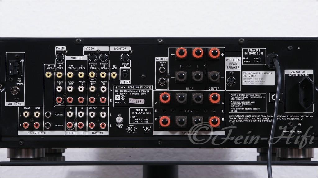 sony str db725 qs dolby surround av receiver gebraucht. Black Bedroom Furniture Sets. Home Design Ideas