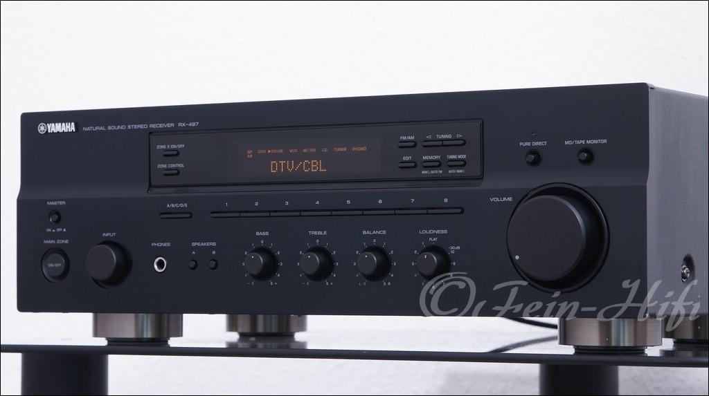 yamaha rx 497 stereo 2 1 receiver mit 2x 105 watt gebraucht. Black Bedroom Furniture Sets. Home Design Ideas