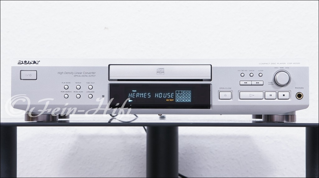 sony cdp xe520 hifi cd player mit cd text gebraucht. Black Bedroom Furniture Sets. Home Design Ideas