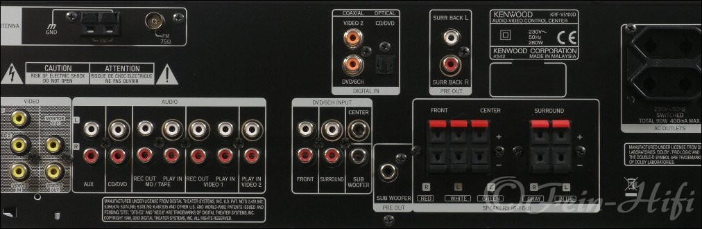 Kenwood Krf V5100d Dolby Digital 5 1 Av Receiver Gebraucht