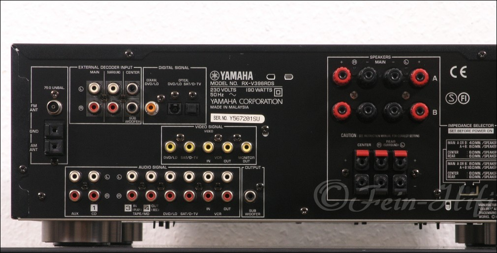 Yamaha Rx V Surround Sound Receiver