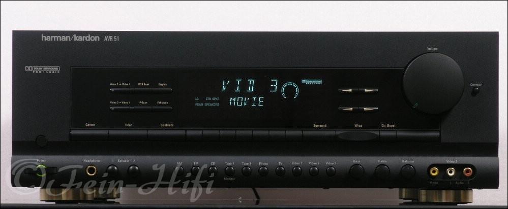 harman kardon avr 51 stereo surround av receiver. Black Bedroom Furniture Sets. Home Design Ideas