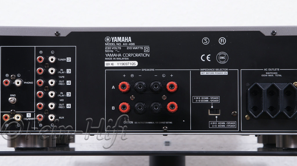 yamaha ax 496 stereo verst rker amplifier fein hifi shop. Black Bedroom Furniture Sets. Home Design Ideas