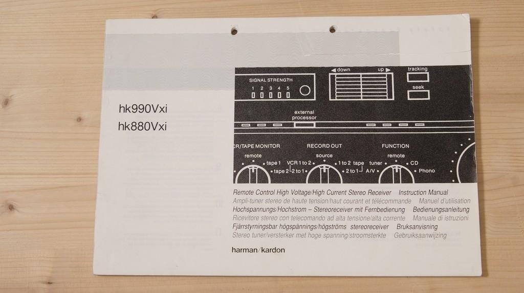 harman kardon hk 990 manual
