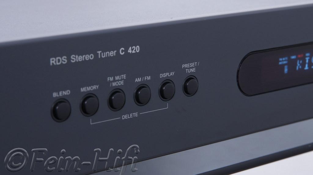nad c 420 stereo hifi tuner mit rds gebraucht fein hifi. Black Bedroom Furniture Sets. Home Design Ideas
