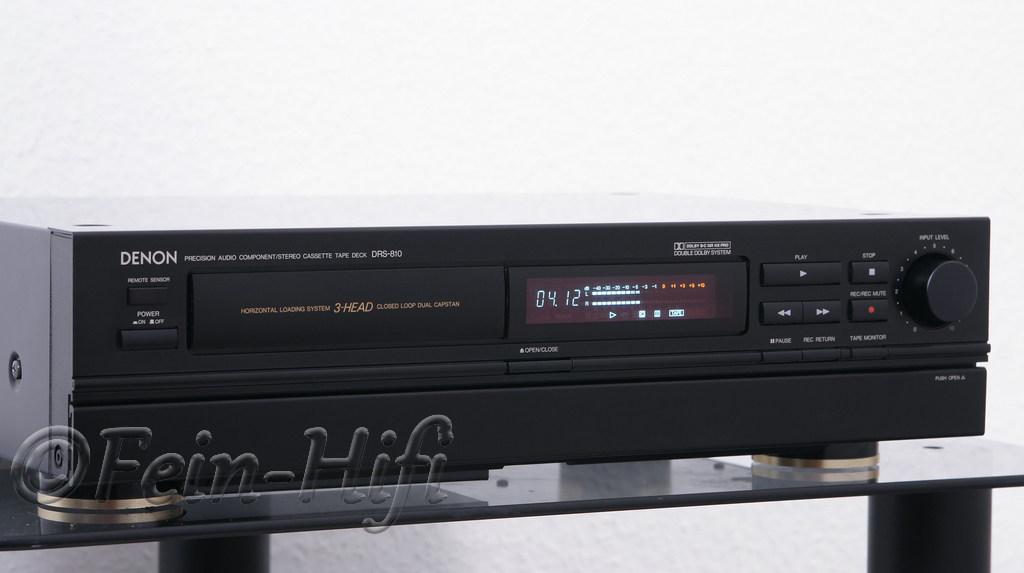 denon drs 810 3 kopf kassettendeck tapedeck mit dual capstan. Black Bedroom Furniture Sets. Home Design Ideas