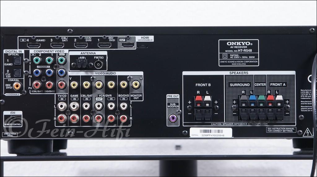 Onkyo ht r548 dolby truehd 5 1 hdmi av receiver for Onkyo or yamaha receiver