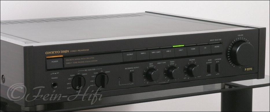 onkyo p 3370 integra stereo vorverst rker vorstufe. Black Bedroom Furniture Sets. Home Design Ideas