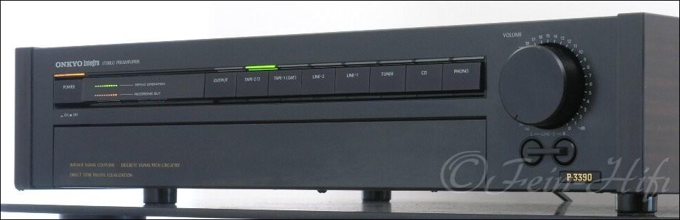 onkyo p 3390 integra stereo vorverst rker pre amplifier. Black Bedroom Furniture Sets. Home Design Ideas