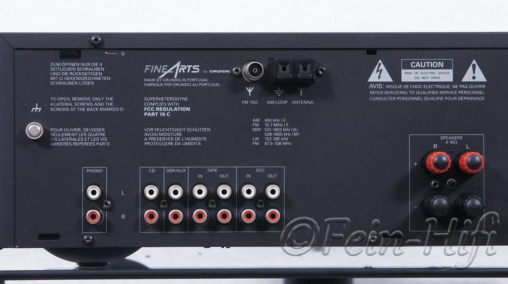 grundid fine arts r2 stereo hifi receiver mit rds. Black Bedroom Furniture Sets. Home Design Ideas