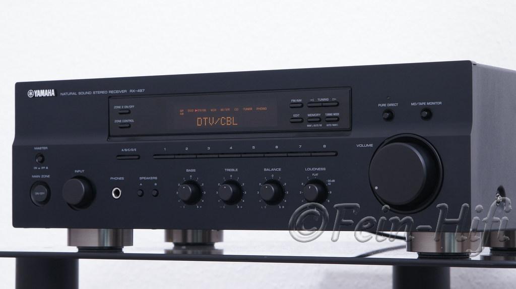 yamaha rx 497 stereo 2 1 receiver mit 2x 105 watt. Black Bedroom Furniture Sets. Home Design Ideas