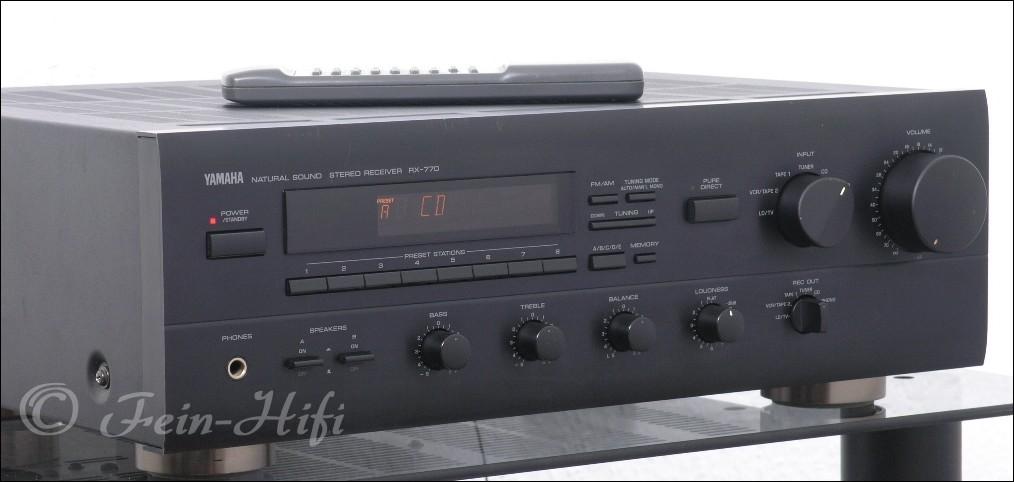 yamaha rx 770 stereo receiver mit 2x 120w din gebraucht. Black Bedroom Furniture Sets. Home Design Ideas