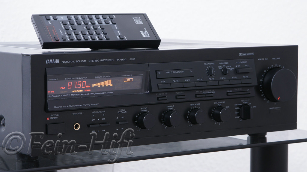 yamaha rx 930 stereo receiver mit phonoeingang. Black Bedroom Furniture Sets. Home Design Ideas