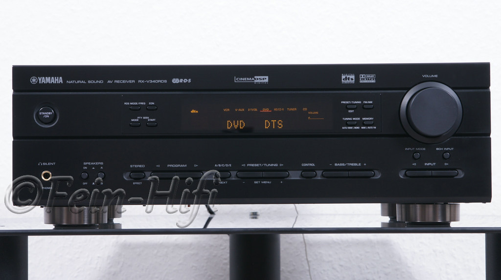 yamaha rx v340 dolby digital 5 1 heimkino av receiver. Black Bedroom Furniture Sets. Home Design Ideas