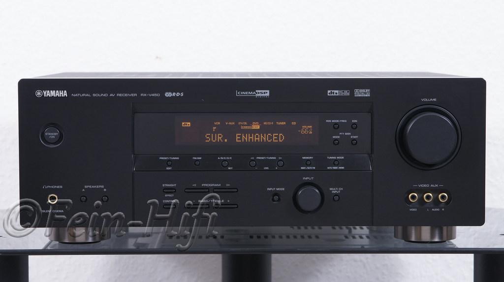 Yamaha rx v450 dolby digital 6 1 av receiver for Yamaha rx v450 av receiver price