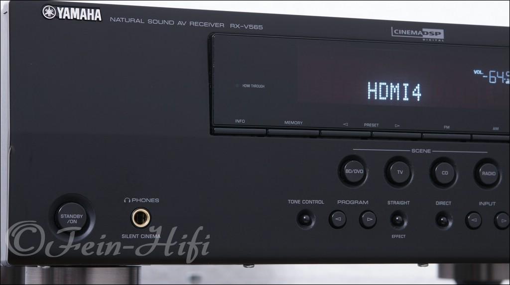 yamaha rx v565 hifi av receiver mit 4 hdmi. Black Bedroom Furniture Sets. Home Design Ideas