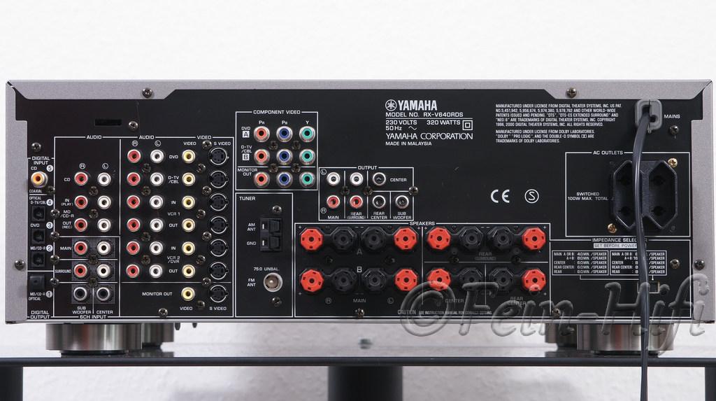 yamaha rx v640 digital surround heimkino receiver gebraucht