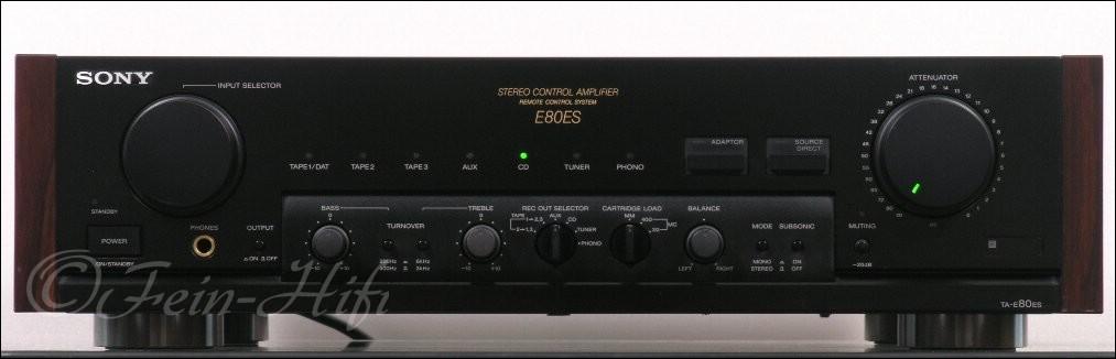 sony ta e80 es high end stereo vorverst rker vorstufe. Black Bedroom Furniture Sets. Home Design Ideas
