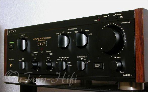 sony ta f830es stereo verst rker mit abnehmb holzwangen. Black Bedroom Furniture Sets. Home Design Ideas