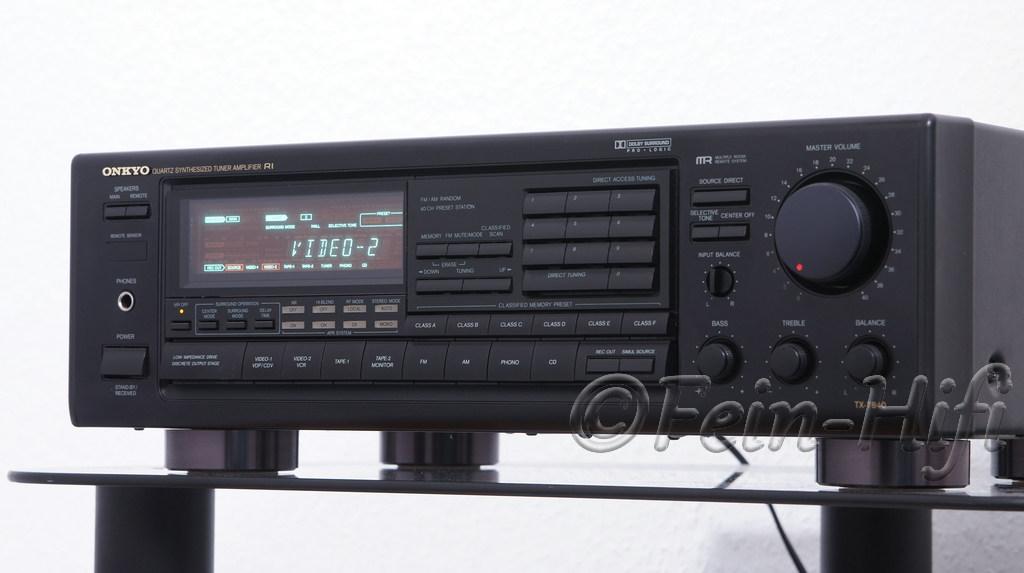 Onkyo tx 7840 stereo av receiver mit phonoeingang for Onkyo or yamaha receiver