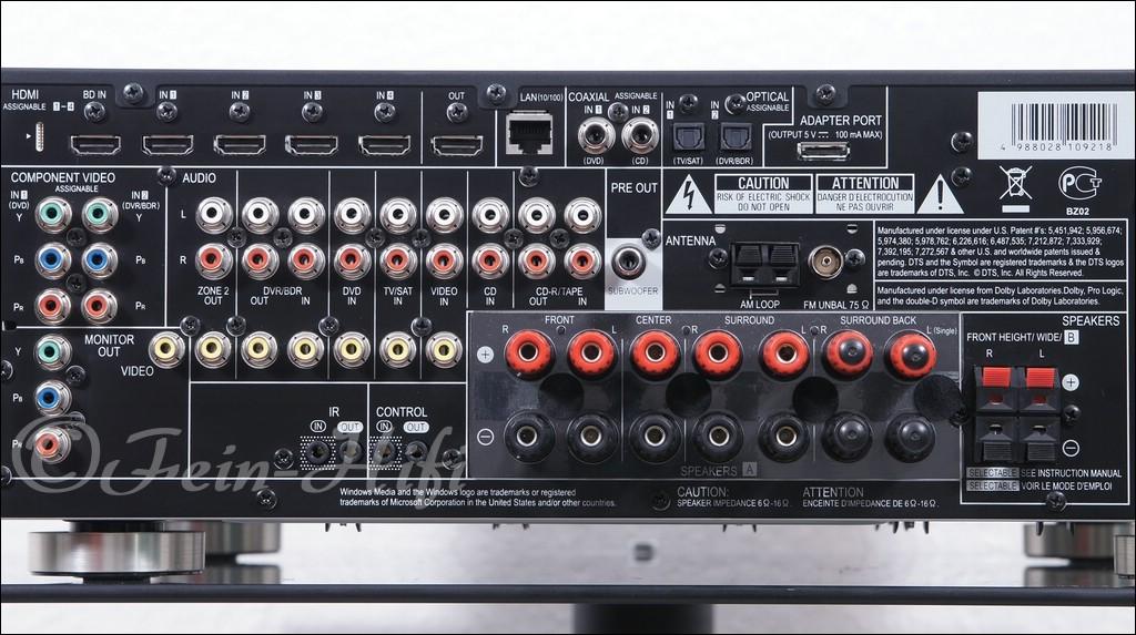 pioneer vsx 1020 heinkino 7 1 av receiver  3d hdmi usb Pioneer VSX 1020 Bluetooth Pioneer VSX-1020 Receiver Subwoofer Connection